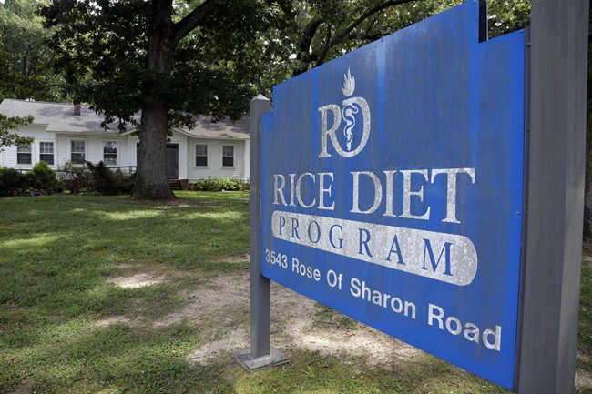 This Tuesday, Aug. 27, 2013 photo shows the now-closed Rice Diet facility in Durham, N.C.
