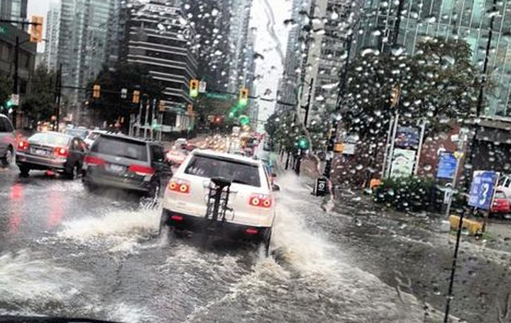 An intense storm in Metro Vancouver that caused flooding and power outages.