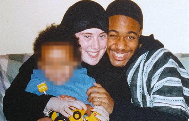 "Samantha Lewthwaite, dubbed the ""White Widow"" is the British fugitive widow of 7/7 bomber Jermaine Lindsay (right)."