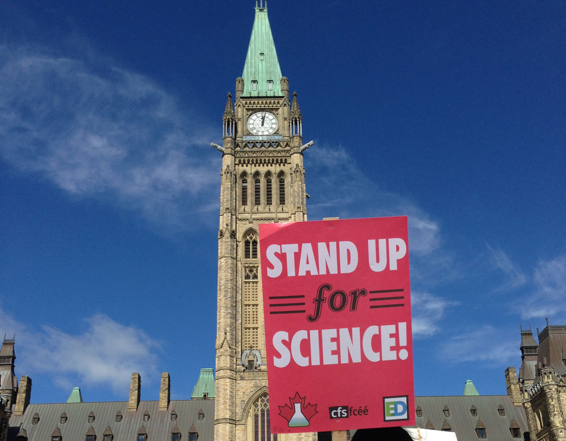 Protesters rallied across the country against the federal government science policies.