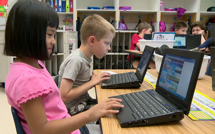 Now kids are doing more than learning how to type, they are doing research right from their desks.