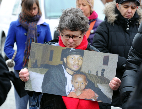 Michael Eligon vigil and march from East York Hospital to 55 Division at Dundas and Coxwell on March 3, 2012.