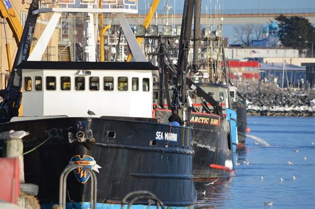 In this Jan. 14, 2012 file photo, fishing boats line the docks during crab season at Cannery Row in Kodiak, Alaska. Alaska's.