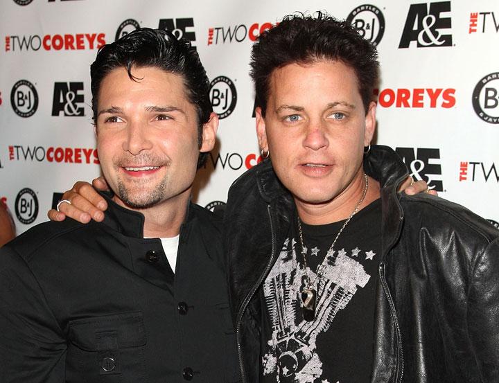Corey Feldman and Corey Haim, pictured in 2007.