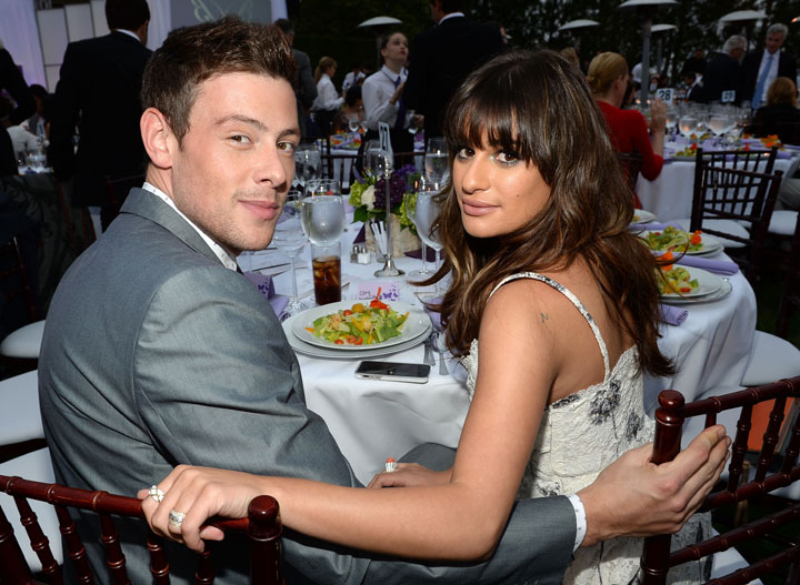 Cory Monteith and Lea Michele in June 2013, one month before his death.
