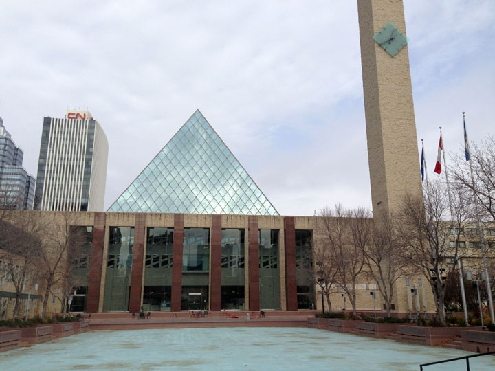 A general view of Edmonton City Hall on Oct. 20, 2013.