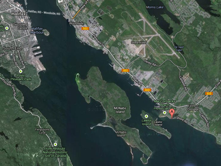 Firefighters were called to a blaze at a large shed on Shore Road in Eastern Passage around 5:30 a.m. Monday.