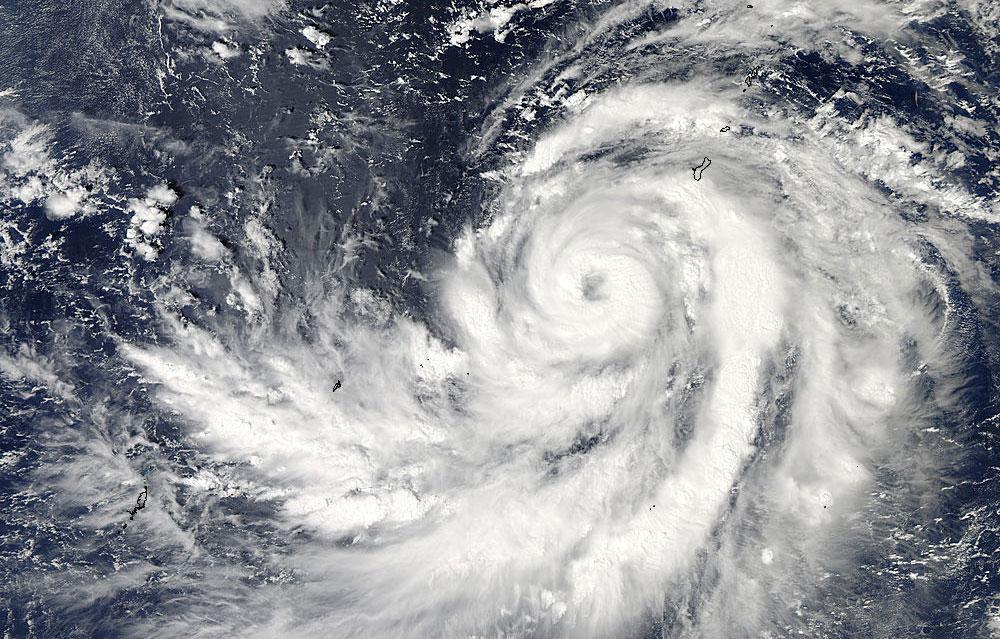 NASA's Aqua satellite captured this image of Typhoon Francisco on Oct. 17 at 4:05 UTC in the Pacific Ocean.
