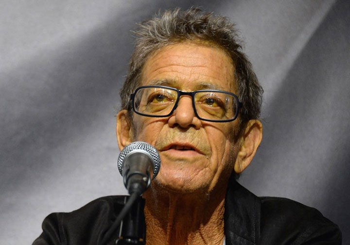 Lou Reed, pictured on Oct. 3, 2013.
