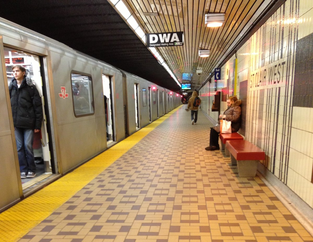 St. Clair West subway station.