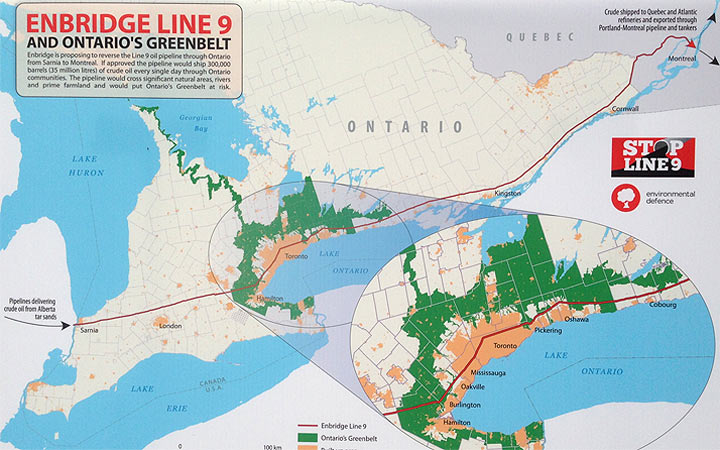 Protests are being held to stop Enbridge's controversial Line 9 pipeline proposal