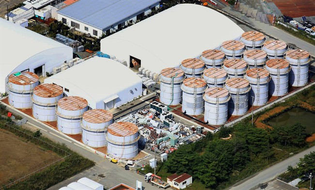 The Fukushima Dai-ichi nuclear plant. Radioactive water has been leaking from the damaged reactors and mixing with groundwater since an earthquake and tsunami in 2011 destroyed the plant's power and cooling systems.