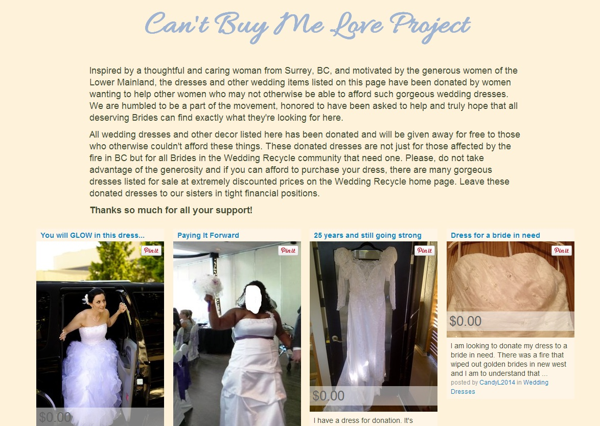Gowns donated to brides affected by New Westminster fire to go toward a bigger cause - image