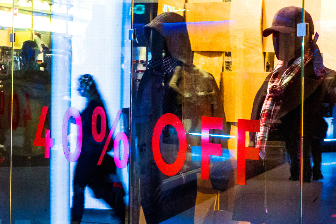 Black Friday: A customer walks through a store in Toronto's Eaton Centre, on Friday November 29, 2013 as retailers offer cut price deals to lure business and kick start the seasonal shopping.THE CANADIAN PRESS/Chris Young