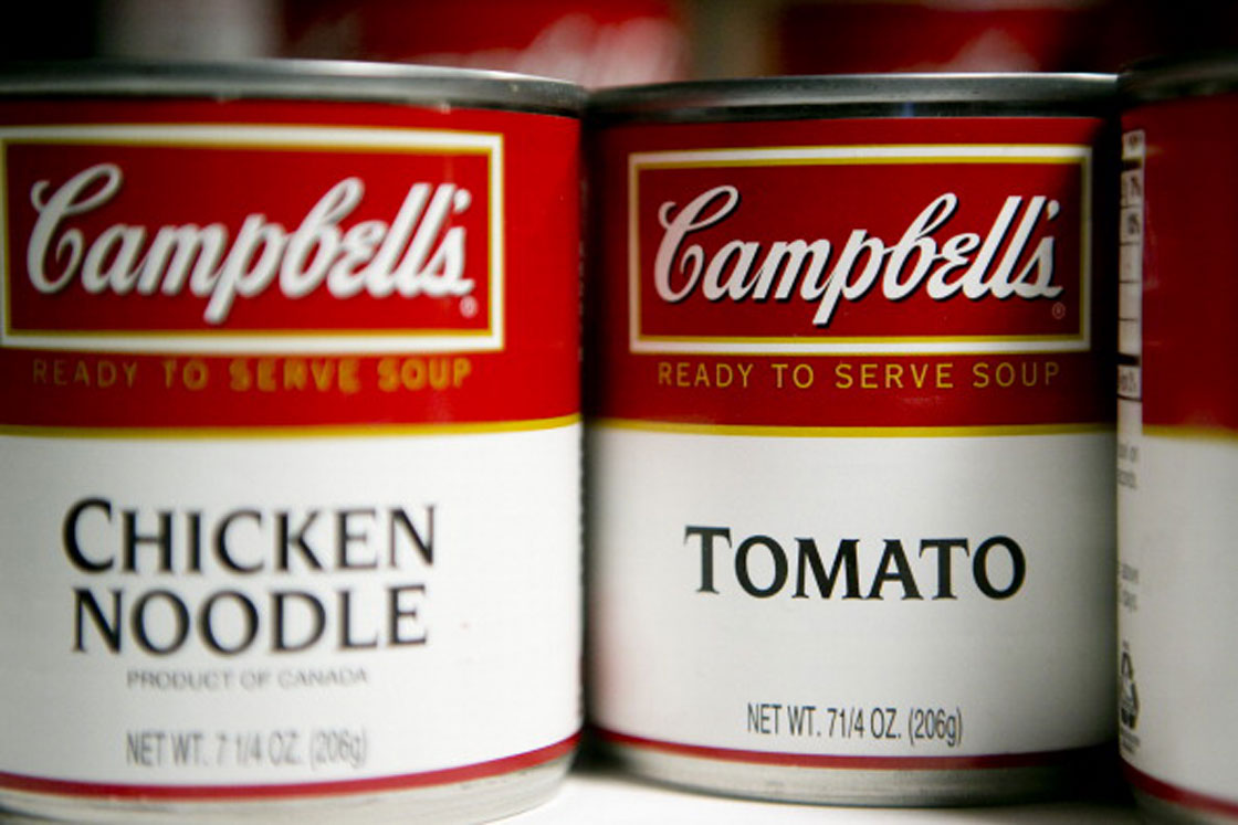 Sales of Campbell's Soup are down in the United States as consumers reach for fresher foods.