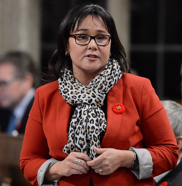 Minister Leona Aglukkaq responds to a question during question period in the House of Commons on Parliament Hill in Ottawa on Tuesday, Nov.5, 2013.