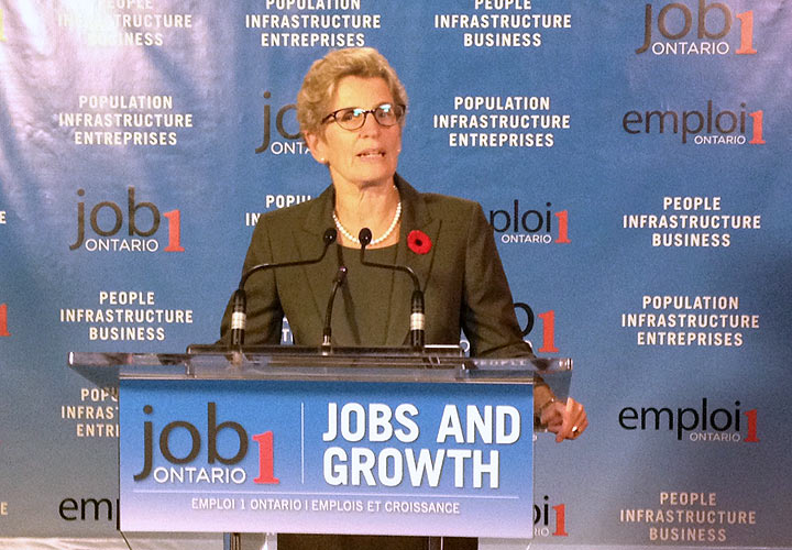 Kathleen Wynne speaks about jobs and the economy