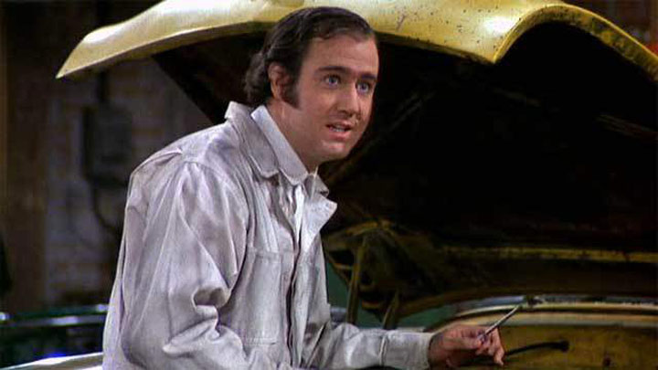 Andy Kaufman in a scene from 'Taxi.'.