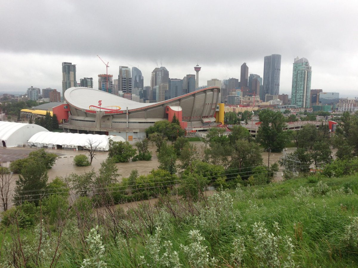 A look at the extensive damage to the Saddledome during the June flood. Global Calgary/June 21, 2013.