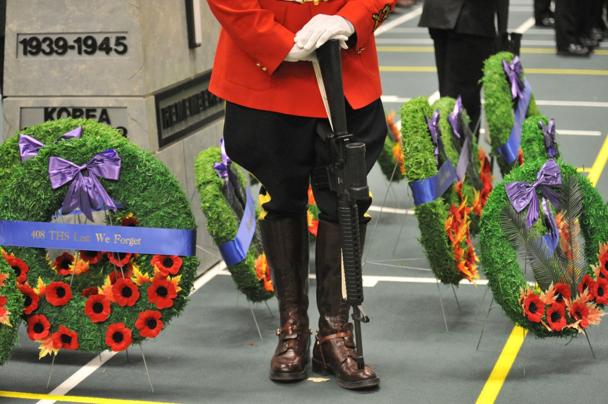 Remembrance Day ceremony at the Butterdome on the University of Alberta Campus, Nov. 11, 2011.