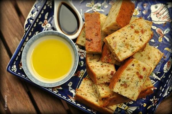 Savoury bread by Chef Christèle Albert .