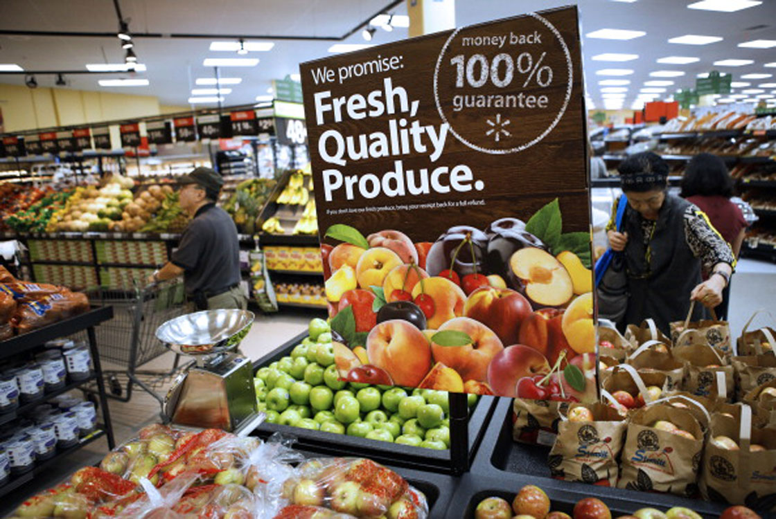 Walmart is pushing aggressively into the grocery business, creating headaches for Canadian supermarket owners.