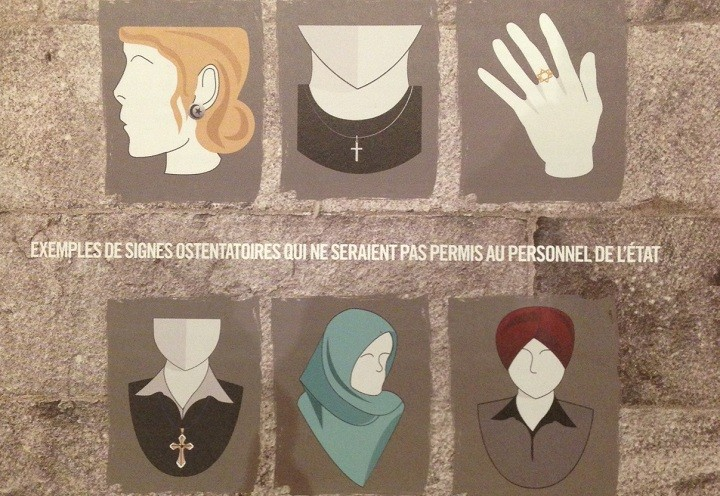 A glimpse of what conspicuous religious symbols the Quebec government suggests are acceptable and unacceptable.