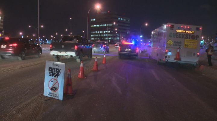 Edmonton police hold a CheckStop Thursday, December 5, 2013.
