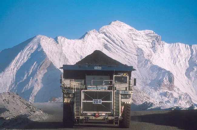 A truck hauls a load at Teck Resources Coal Mountain operation near Sparwood, B.C. in a handout photo. THE CANADIAN PRESS/HO, Teck Resources.