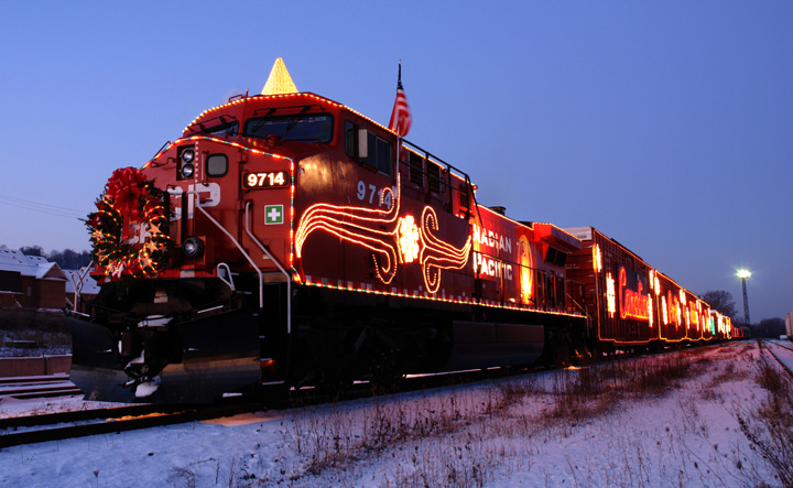 The 2013 Canadian Pacific holiday train program is making a difference with a stop in Saskatoon on Wednesday evening.