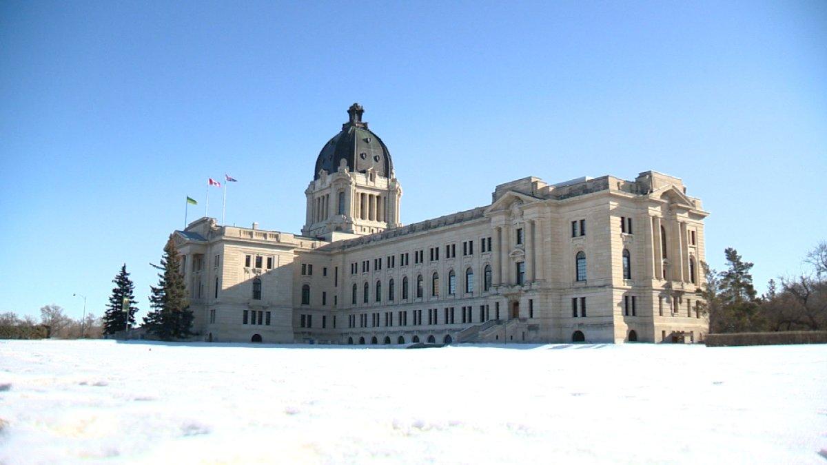 The Saskatchewan Legislative Building in Regina, Saskatchewan.
