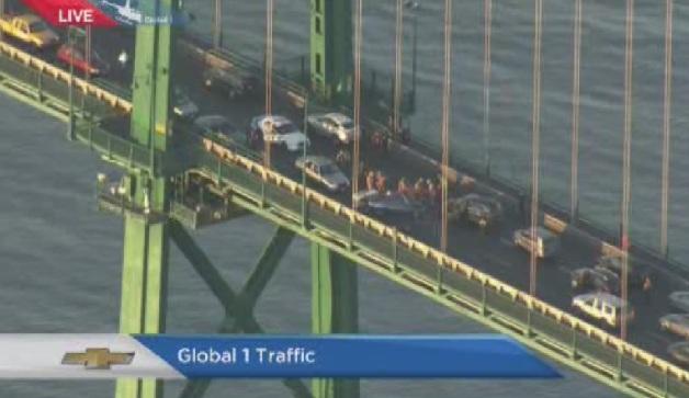Collision on the bridge on Dec. 3, 2013.