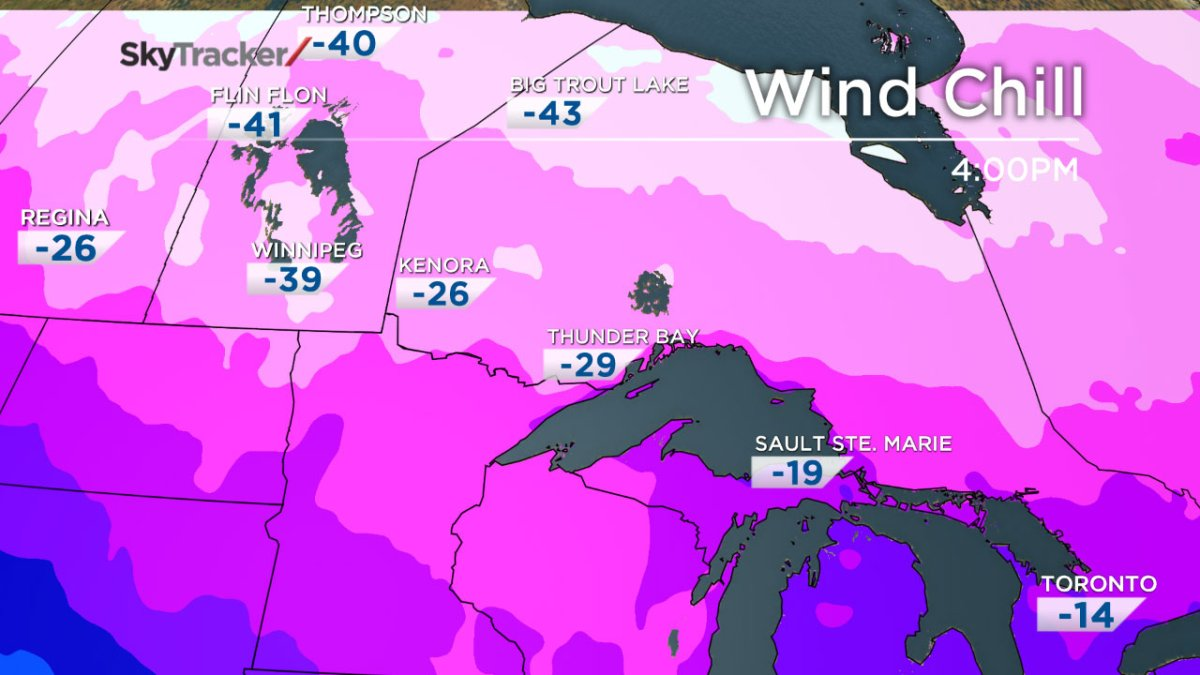 Wind chill Ontario