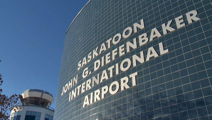 A massive ice storm in the east caused flight delays for hundreds of travellers at Saskatoon International Airport.