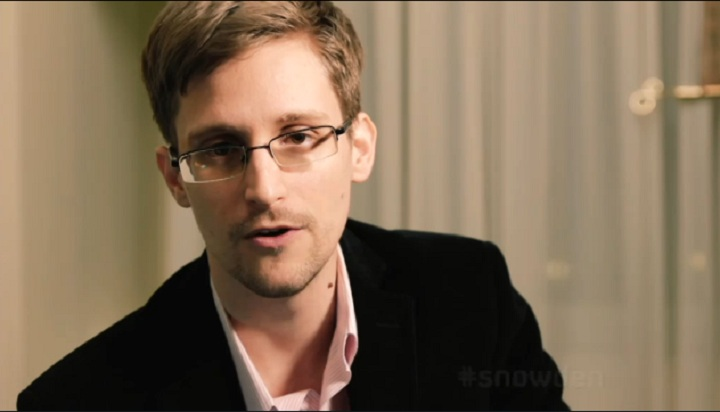 Edward Snowden delivers the Alternative Christmas Message on Britain's Channel 4.