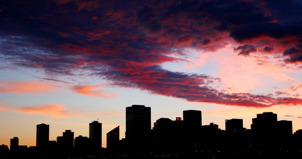 Edmonton skyline downtown