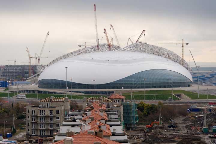 Bolshoy Ice Dome under construction