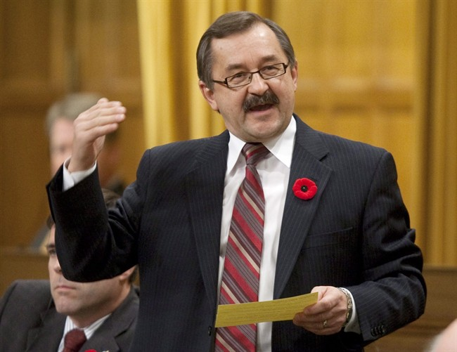 Conservative MP for Souris Moose Mountain Ed Komarnicki is pictured in Ottawa, Nov.6, 2009. THE CANADIAN PRESS/Adrian Wyld.
