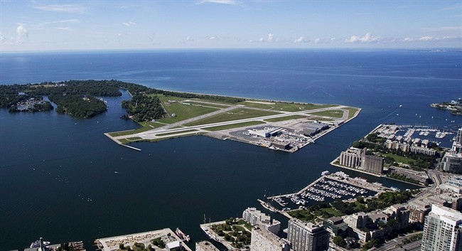 Billy Bishop Toronto City Airport is pictured on July 26, 2013.