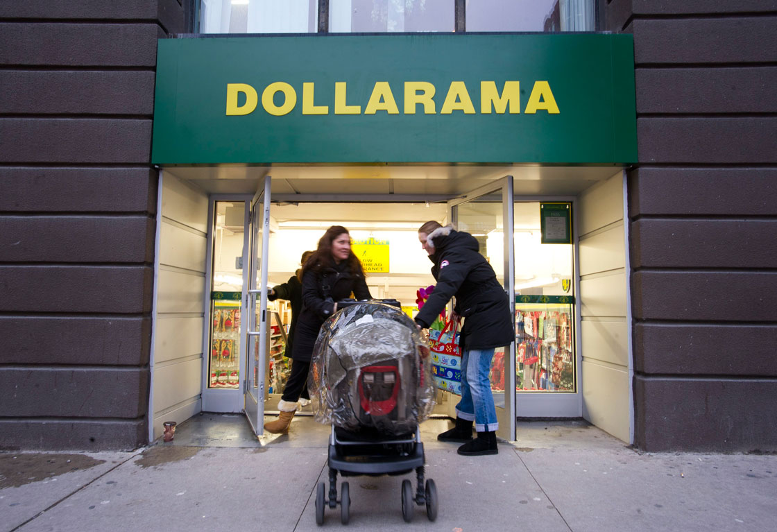 A slowing economy as well as high household debt levels are forces working in Dollarama's favour, experts say.