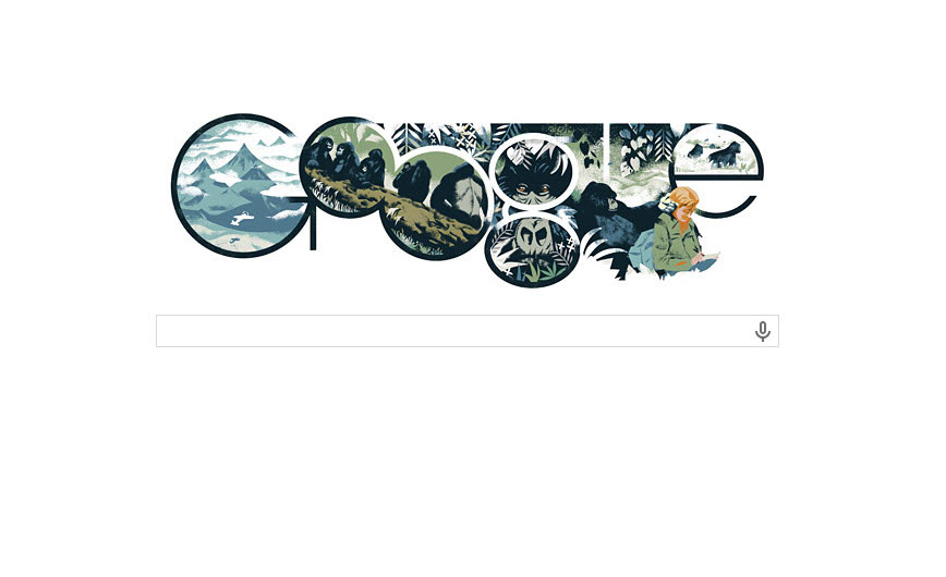 The Google Doodle for Jan. 16 pays tribute to world-renowned zoologist Dian Fossey.