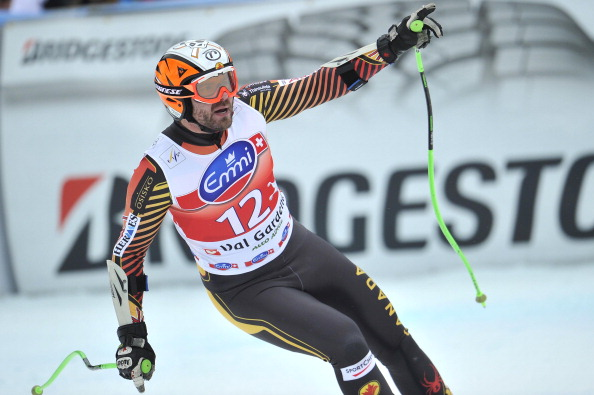 Jan Hudec of Canada takes 2nd place during the Audi FIS Alpine Ski World Cup Men's Super-G on December 20, 2013 in Val Gardena, Italy.