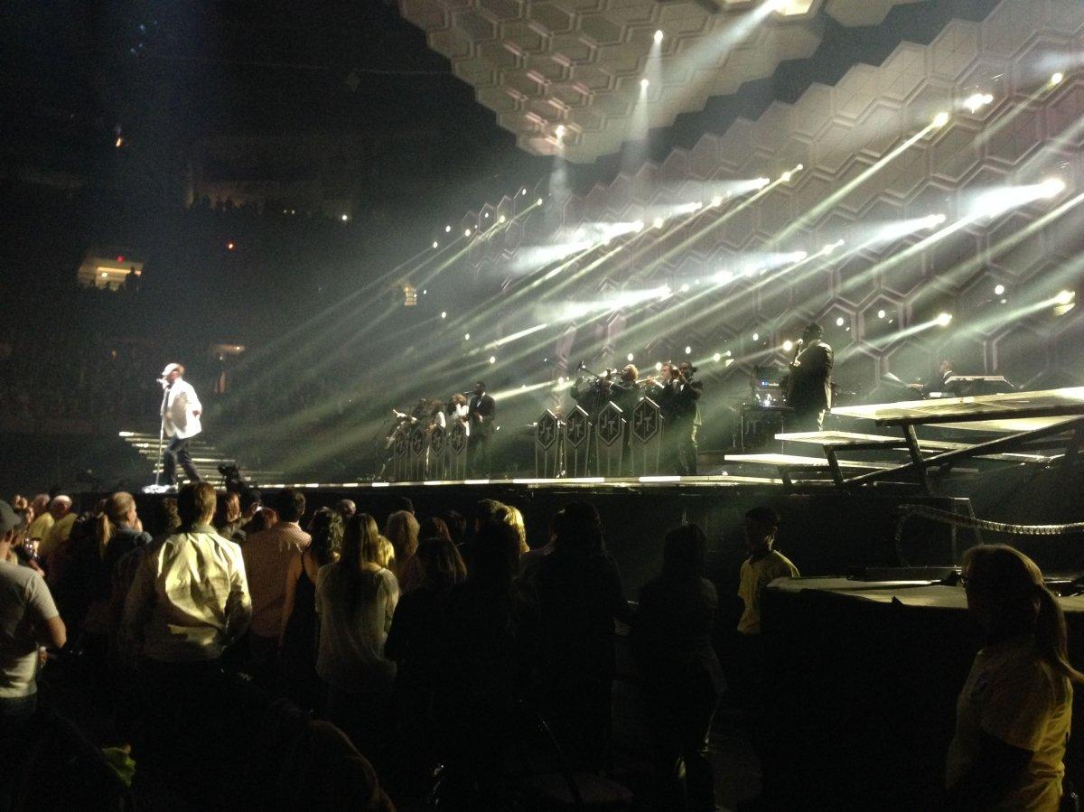 Justin Timberlake performs in Edmonton Jan. 13, 2014.