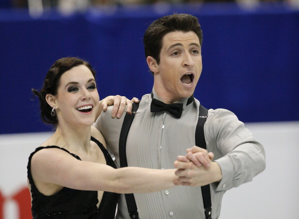 Tessa Virtue and Scott Moir of Canada compete in the ice dance short dance during day two of the ISU Grand Prix of Figure Skating Final 2013/2014 at Marine Messe Fukuoka on December 6, 2013 in Fukuoka, Japan.
