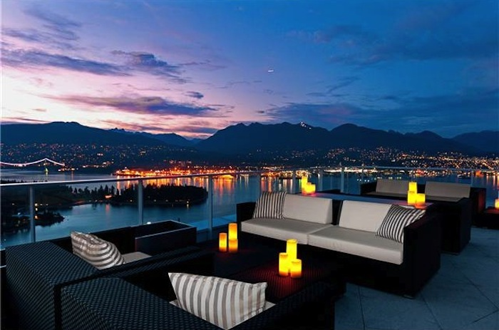 Penthouse 1 at the Fairmont Pacific Rim sold for $25 million dollars in 2013 - and is listed as the 17th most valuable property in British Columbia.