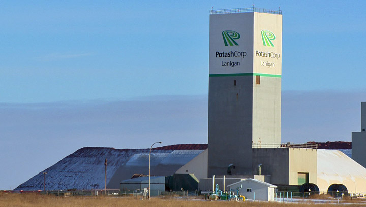 Fourth-quarter profits drop at PotashCorp as company takes hits from lower fertilizer prices and downsizing.