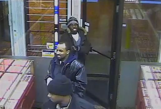 Screen grab from surveillance video released by police of the three suspects.