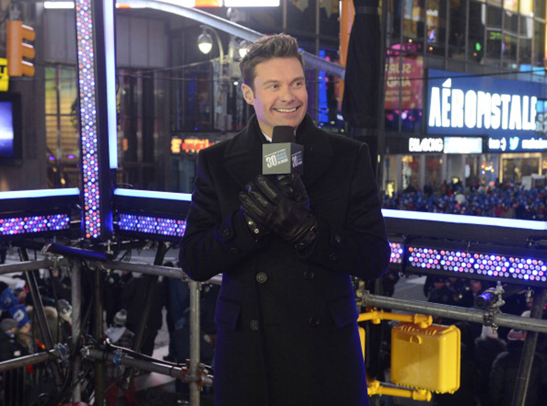 BlackBerry is suing a company partly owned by Ryan Seacrest, pictured. The smartphone maker alleges Typo Products is infringing on its patented keyboard with a copycat product.