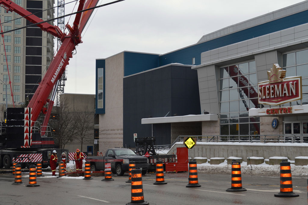 The Sleeman Centre in Guelph is the first building in the city to use district energy.
