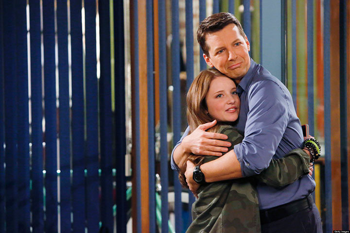Samantha Isler and Sean Hayes in a scene from 'Sean Saves The World.'.